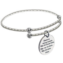 fee3a7ce7161 Inspirada mamá encantos brazaletes de plata ajustable positivo cotizaciones grabado  pulseras para mujer ampliable graduación reg.