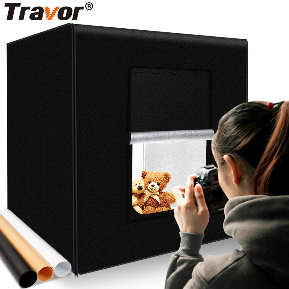Travor M40 II photo box 40cm*40cm Dimmable Studio softbox Table Photography Shooting Tent with light modulator lightbox-in Tabletop Shooting from Consumer Electronics
