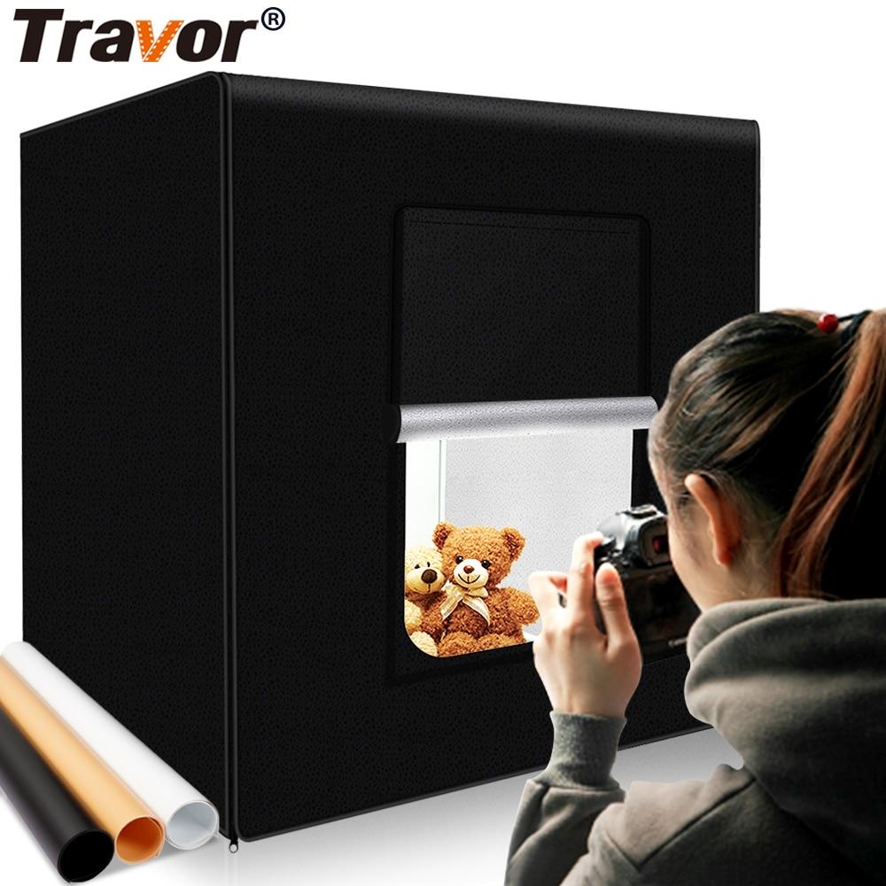 Travor m40 ii photo box 40cm * 40cm pode ser escurecido estúdio softbox mesa fotografia tiro tenda com luz modulador lightbox