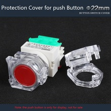 5pcs/lot Transparent Protective Cover for 22mm LAY37 Plastic Push Button Switch Protection Cover Avoid Wrong Pressing