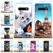 For Samsung Galaxy S10 Case Soft TPU Silicone G973F G973U G973W Cover Cat Patterned Funda