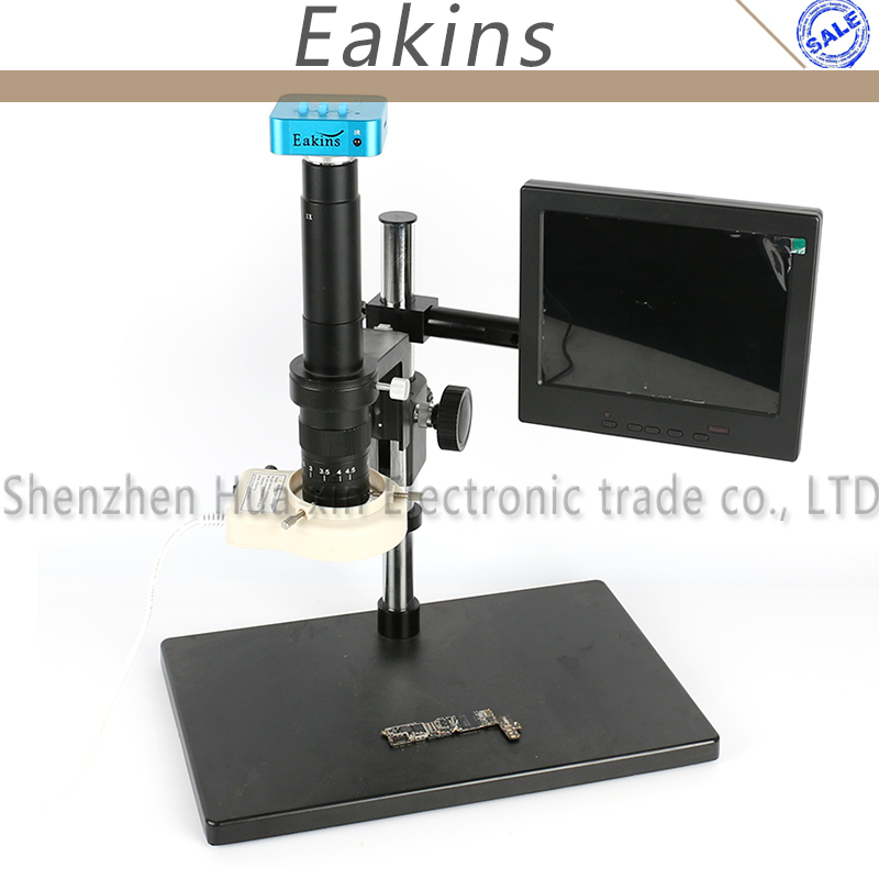 16MP Full HD 1080P 60FPS HDMI USB Industry Digital Microscope Camera +Big Stand+300X/180X C-MOUNT Lens+56 LED Light Ring+8