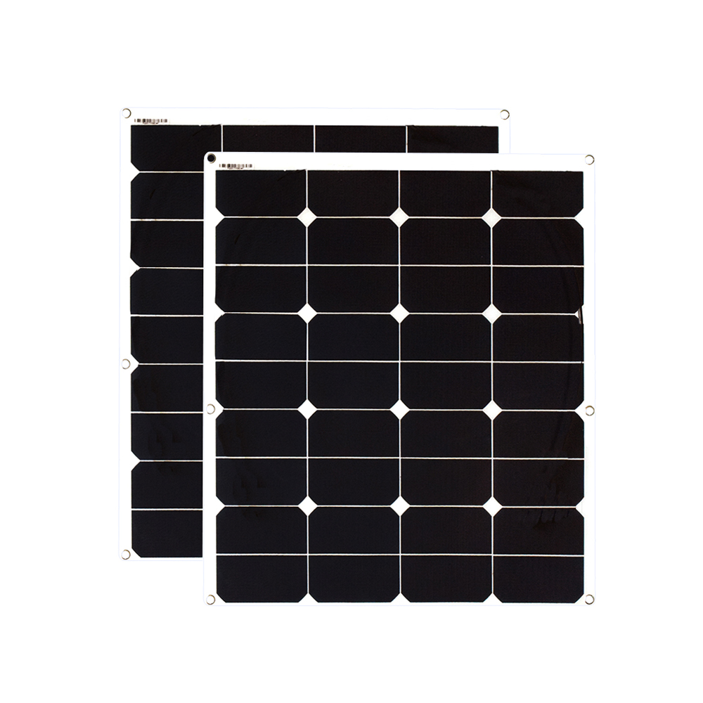 цена на BOGUANG 2PCS 60W ETFE film flexible solar panel 12V solar panel solar cell yacht boat RV solar module for car RV boat battery