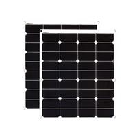 XINPUGUANG 12V/24V solar panel 2PCS 60W ETFE film flexible solar panels cell yacht boat RV solar module for car RV boat battery