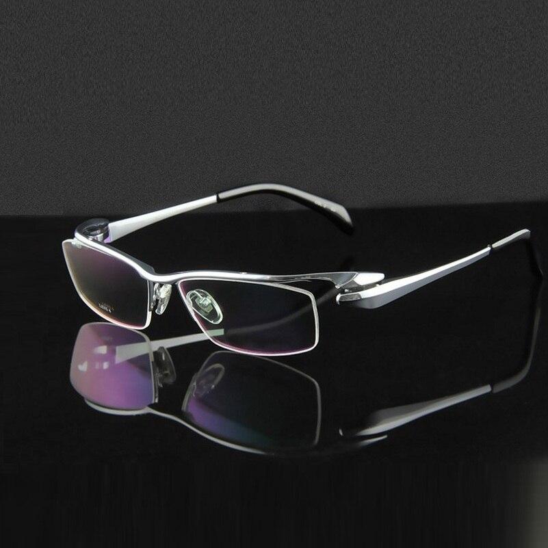 High-end pure titanium half rim frame myopia Business men eyeglasses frames for male eyewear frame prescription reading glasses