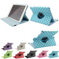 Polka Dot Style Case For iPad 5 iPad Air Case Stand 360 degree Rotation Smart  PU Leather Case For iPad5 iPad Air 1