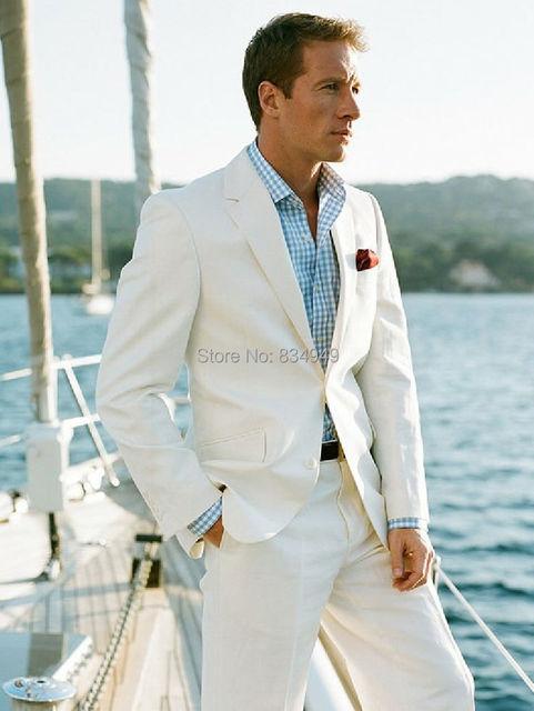 White Linen Blazer Custom Made Linen Suit ,Sharp Look Tailored ...
