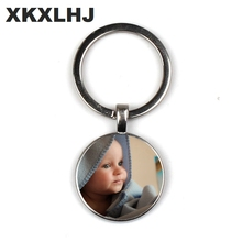 Personalized Photo key chain Custom Keychain of Your Baby Child Mom Dad Grandparent Loved One Gift for Family