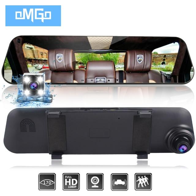 Auto vehicle dvrs cars dvr podwójny obiektyw do telefonu aparat rejestrator do lusterka wstecznego rejestrator wideo full hd1080p kamera na deskę rozdzielczą kamera