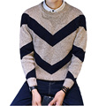Men Pullover New Arrival Men Sweaters Casual Style Fashion Design O Neck Striped Leisure Warm male Pullovers Big Yards M-2XL