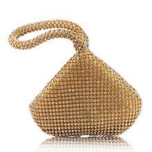 Women's Triangle Glitter Handbag Purse Clutch Evening Luxury Bags Party Prom