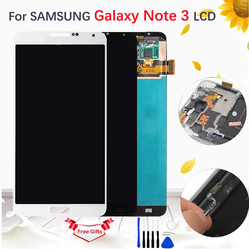 5.7'' AMOLED/TFT LCD For Samsung Galaxy Note 3 III SM N9005 SM N900 LCD Display Touch Screen Digitizer Assembly TFT with Frame