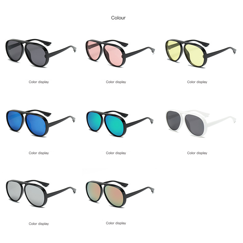 98a7df41848 LeonLion 2018 Vintage Pilot Sunglasses Men Candy Color Big Frame Thick  BorderSun Glasses For Women PC Classic Outdoor Travel -in Sunglasses from  Apparel ...