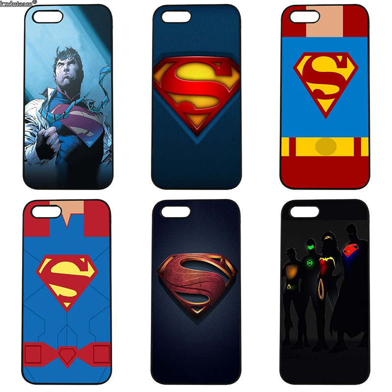 Hot Man of Steel Superhero Phone Cases for iphone 8 7 6 6S Plus X 5S 5C 5 SE 4 4S iPod Touch 4 5 6 Shell Hard PC Plastic Cover