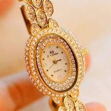 цена на New Elegant Woman Watch  Fashion Women Watch Top Luxury Women Rhinestone Casual Dress Quartz Wristwatch Bracelet reloj mujer