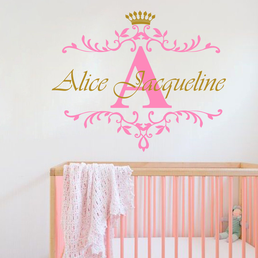 Aliexpress.com : Buy Personalized Name Initial Letter Wall