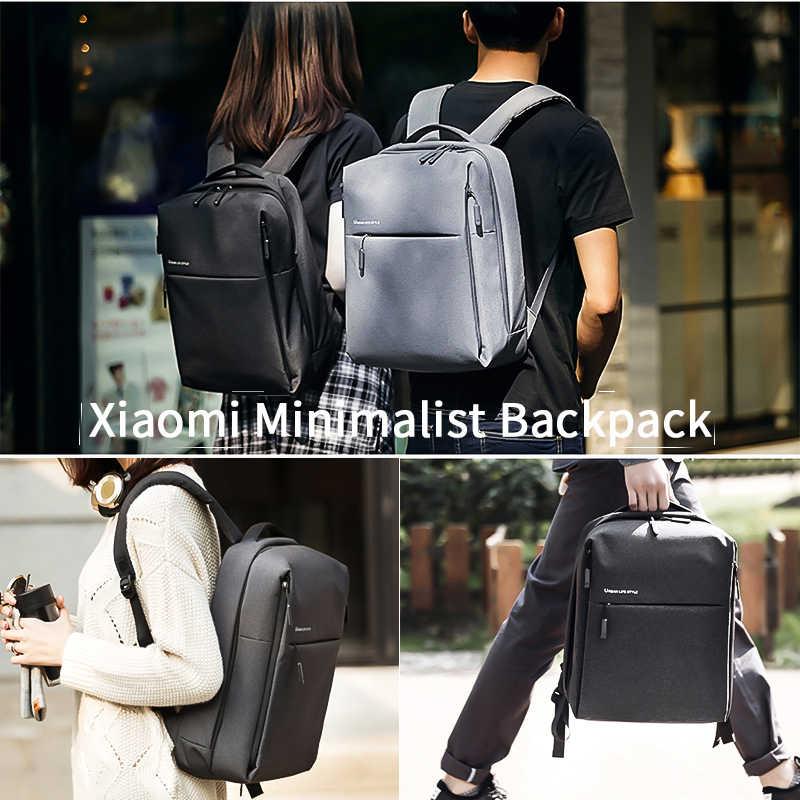 Original Xiao mi mi sac à dos Style de vie urbaine épaule sac à dos sac à dos sac d'école sac polochon convient à 14 pouces ordinateur portable portable