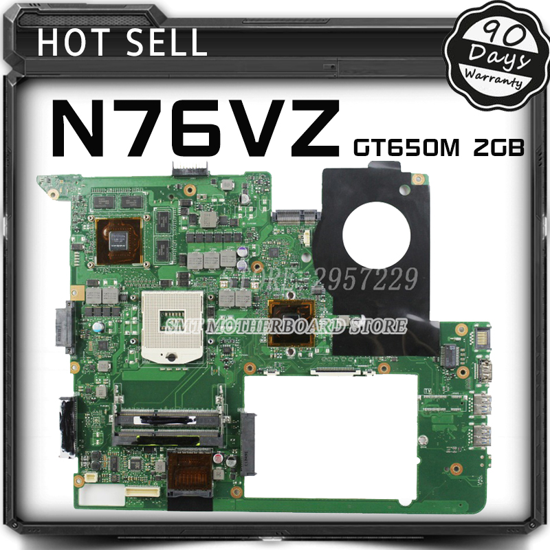 For N76VJ N76VB N76VZ N76VM N76V REV:2.2 Laptop Motherboard 2GB USB3.0 N13P-GT-A2 GT650M fully tested & working perfect notebook motherboard for samsung np550 np550p5c n13p gt a2 gt650m ba92 09094a ba41 01898a tested ok free shipping