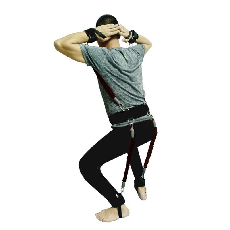 200lbs bandes de résistance boxe Fitness entraînement ceinture jambe force exercice pour 2019 ALS88 - 2