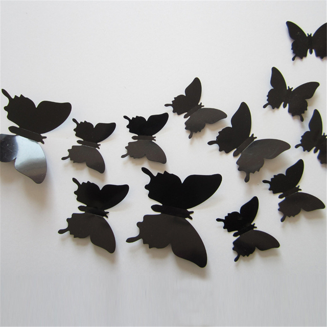 Aliexpresscom Buy 12pcslot 3d Butterfly Wall Stickers