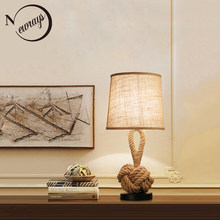 Europe vintage fabric iron table lamp modern simple desk lamp LED E27 for living room bedroom lobby study cafe office bedside(China)