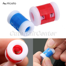 Original Hicello 2pcs/set Knitting Needles Row Counter 2 Sizes Big And Small Plastic Needles Sewing Tools Accessory