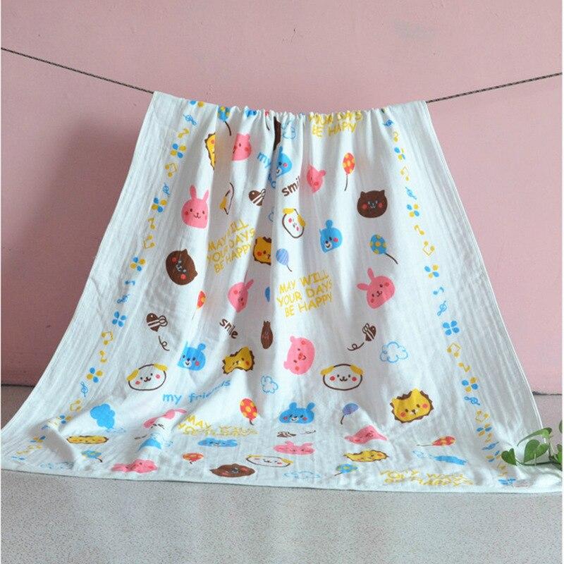 100% Baumwolle Baby Bad Handtuch Weiche Große Baby Decken Neugeborenen Swaddle Infant Bettwäsche Quilt Multi-verwenden Baby Decke Kinder Swaddle Spezieller Sommer Sale