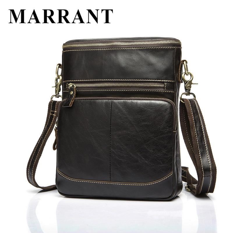 ФОТО MARRANT Small Travel ipad Shoulder Bags Messenger Bag Leather Men Crossbody Bags Genuine Leather Men Bag Fashion Leather Handbag