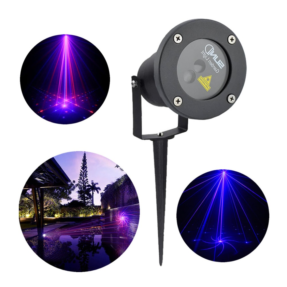 New 8 Gobos Red Blue Laser Outdoor / Indoor Projector Lights Landscape Garden Home Party Xmas Lighting GO-08RB new outdoor indoor green laser blue led projector lights landscape garden decoration home party xmas buried lighting gol 100g