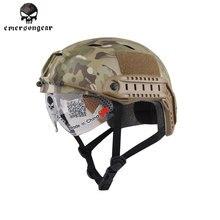 Emersongear Casco RÁPIDO Con Protección Goggle BJ Tipo Casco táctico Del Ejército Militar Airsoft Paintball EM8818 Emerson Casco