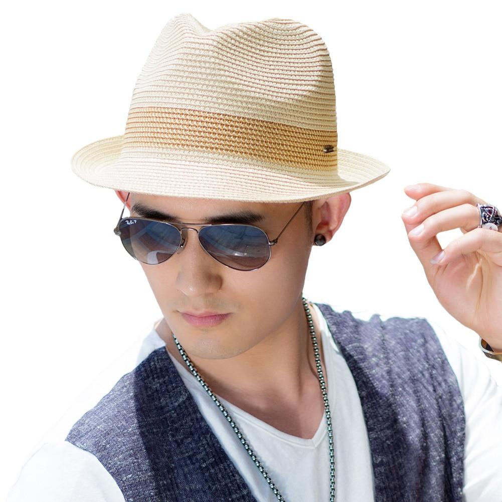Siggi Uni Men Straw Fedora Sun Hat Women Packable Summer Panama Beach Hats Trilby Adjule Fashion Casual Short Brim 16010 In From S