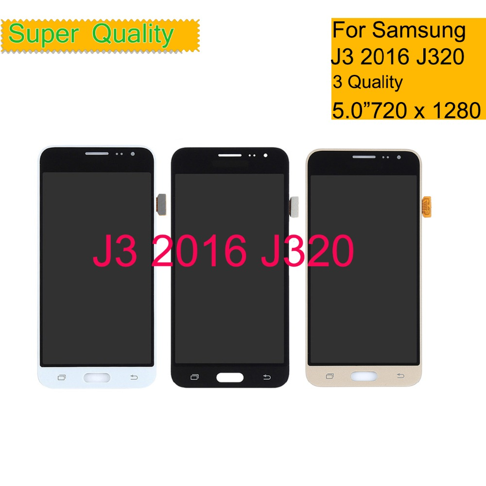 SUPER AMOLED Für <font><b>SAMSUNG</b></font> <font><b>GALAXY</b></font> J3 2016 J320 J320F J320FN <font><b>LCD</b></font> Display Touchscreen Digitizer Panel Pantalla monitor <font><b>LCD</b></font> Montage image