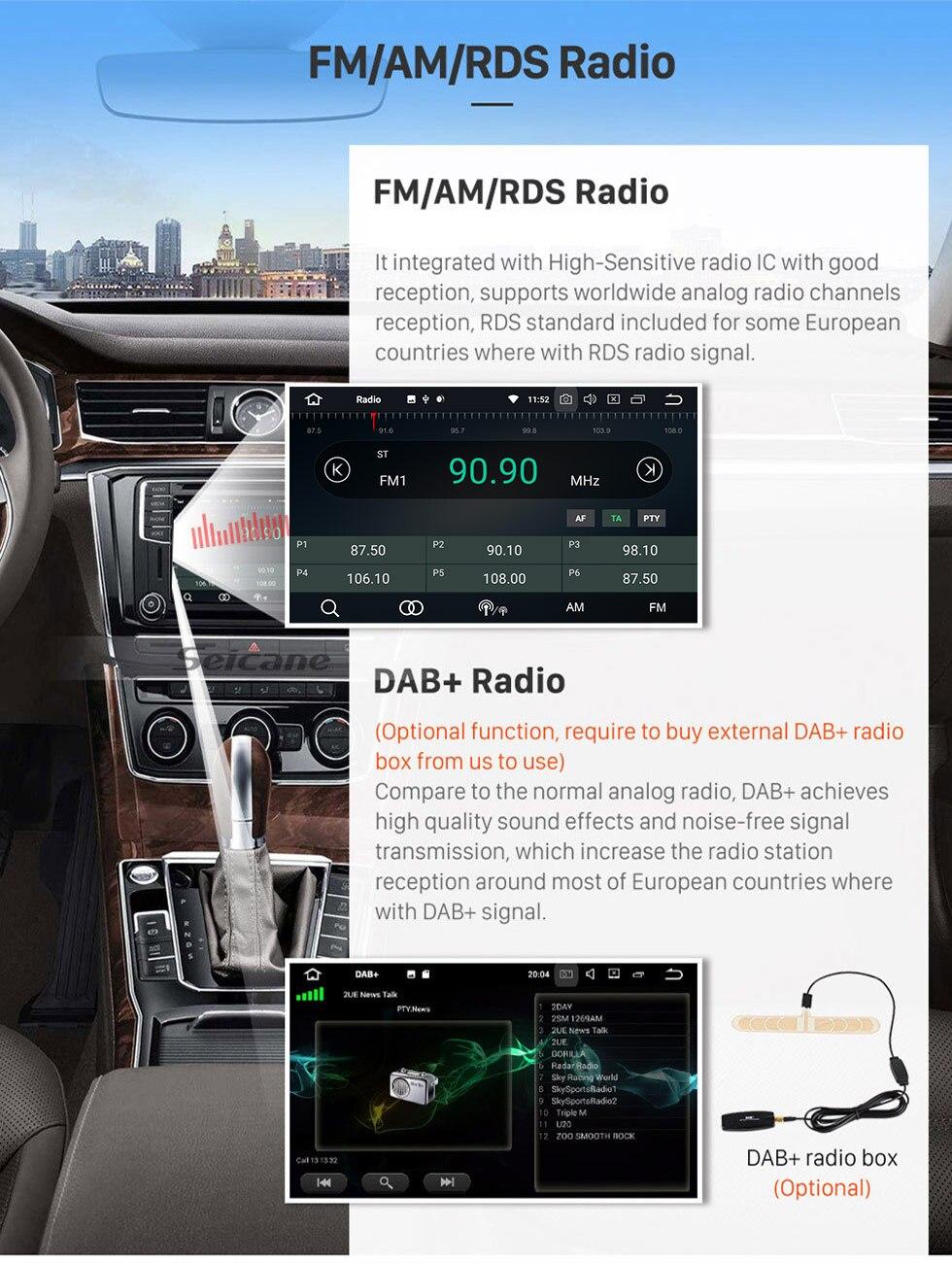 Seicane Android 81 80 Car Gps Radio Navigation Unit Player For Skoda Rapid Fuse Box Diagram 2012 2013