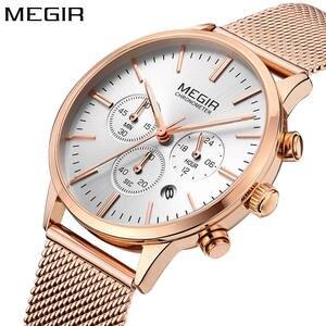 Megir luxury watch women gold wristwatch Relogio feminino 58f86b6465