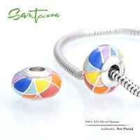 Silver Enamel Charm Colorful Beads Fit Pandora Charm Bracelet Bangle DIY Making 100 Authentic 925 Sterling