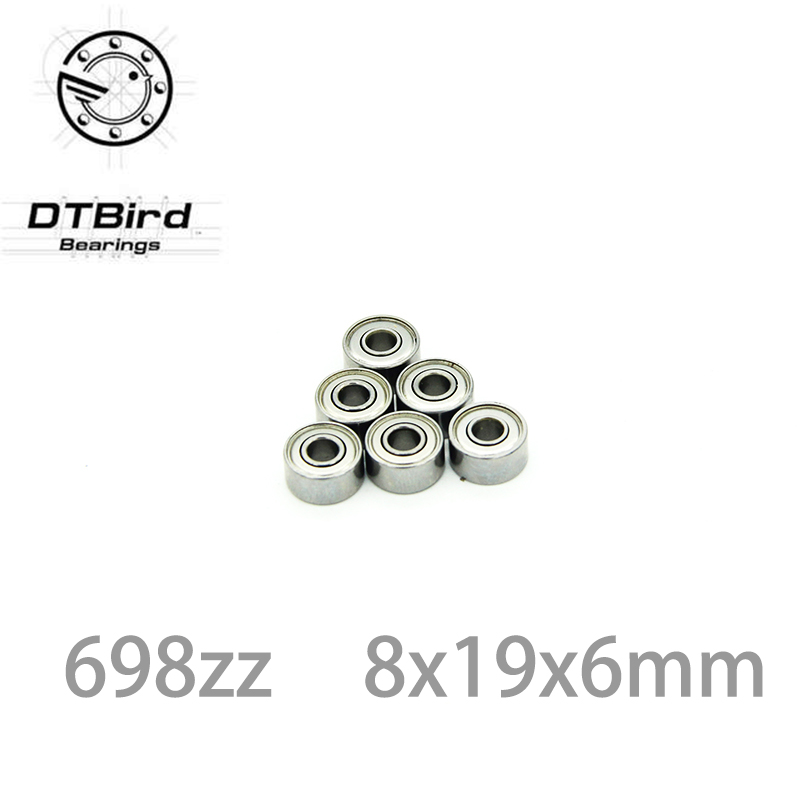 10pcs 698ZZ 698 ZZ 8x19x6mm Mini Ball Bearing Miniature Bearing Deep Groove Ball Bearing Brand New 8*19*6 MM image