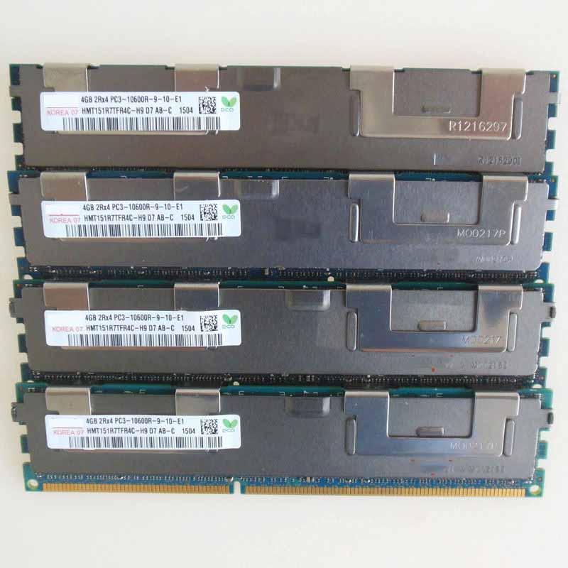 4X4 GB PC3-10600R DDR3 1333 mhz ECC mémoire REG enregistré RAM 2RX4 sever mémoire