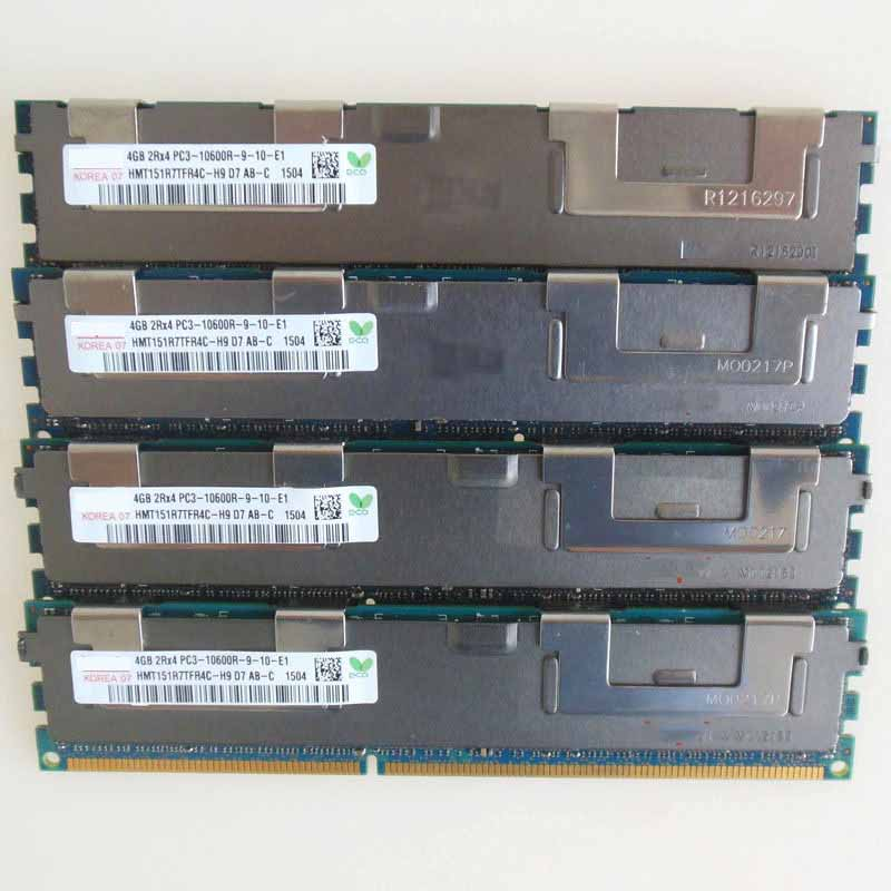 4X4GB PC3-10600R DDR3 1333mhz ECC Memory REG Registered RAM 2RX4 sever memory 4gb 44t1586 vlp rdimm pc3 10600r hs22 hs22v server memory one year warranty