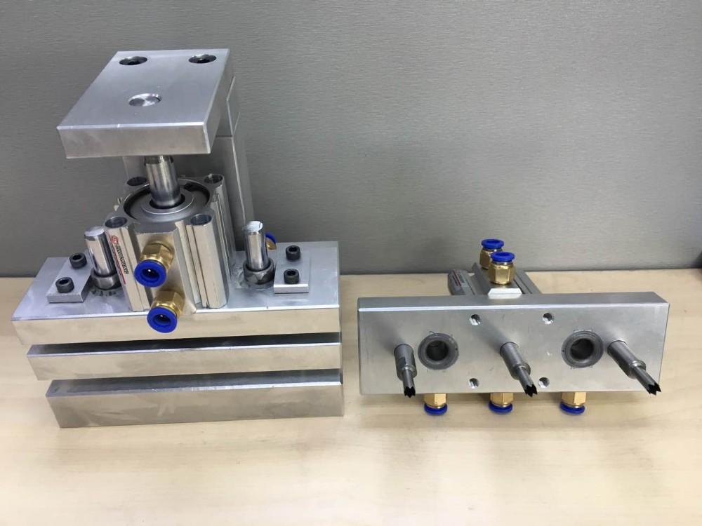serrated round hole punching machine