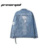 PROVERGOD 2017 Autumn Fashion Denim Jacket Men Casual Jeans Coats Outerwear Cotton Slim Fit Brand Men