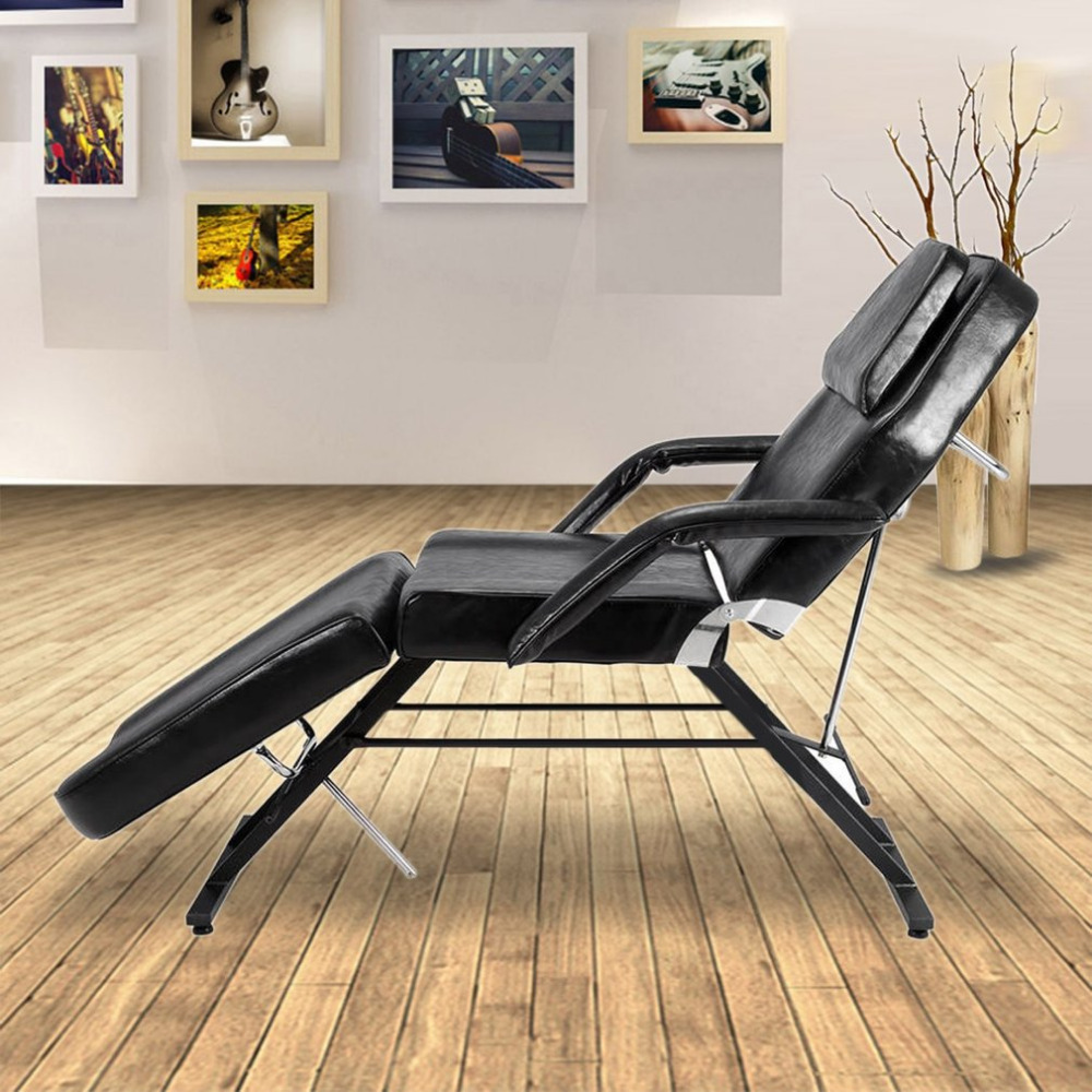 Adjustable Massage Bed Facial Beauty Barber Chair Professional Soft Padded Couch Bed Stool For Tattoo Facial Therapy Salon
