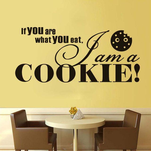 Online Shop DCTOP Art Font Quote I Am A Cookie Vinyl Wall Sticker ...