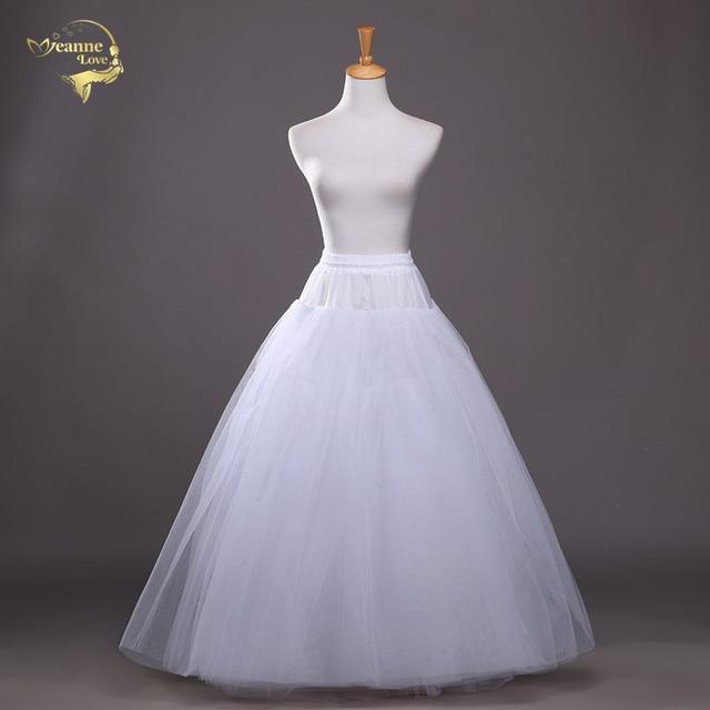 4 layers of Hard Tulle Petticoat Underskirt Slip Wedding Accessories Chemise Without Hoop For Wedding Dress Crinoline Jupe Slip