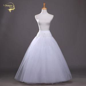 Image 1 - 4 schichten von Fest Tüll Petticoat Unterrock Schlupf Hochzeit Zubehör Chemise Ohne Hoop Für Hochzeit Kleid Krinoline Jupe Slip