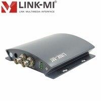 LINK MI LM PHS01 HDMI к BNC HD SDI конвертер до 1080 P с аналоговый стерео аудио управления DIP переключатель HDMI вход сигнал адаптивно