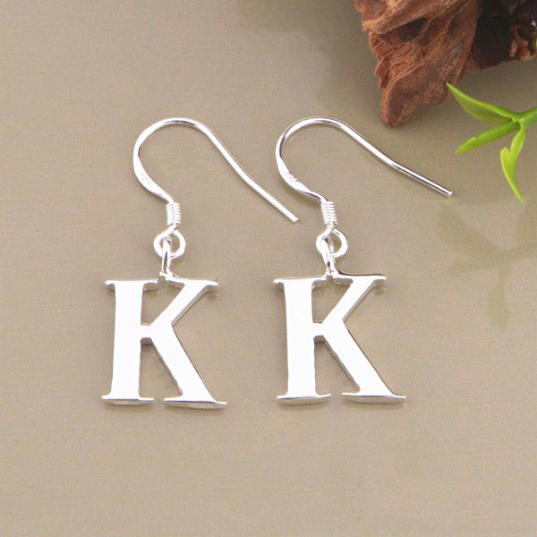 Fashion Design 925 Sterling Silver Earrings Simple Letter K And J Shape In Stud From Jewelry Accessories On Aliexpress