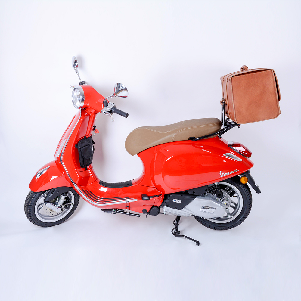 for VESPA Scooter Leather Classic Soft Top Box Luggage Storage Bag LXV GTV  GTS PX GTS LX ET 946 125 Primavera-in Covers & Ornamental Mouldings from ...