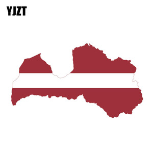 YJZT 15.5CM*8.7CM Personality Latvia Map Flag Motorcycle Body Car Sticker PVC Decal 6-0841(China)