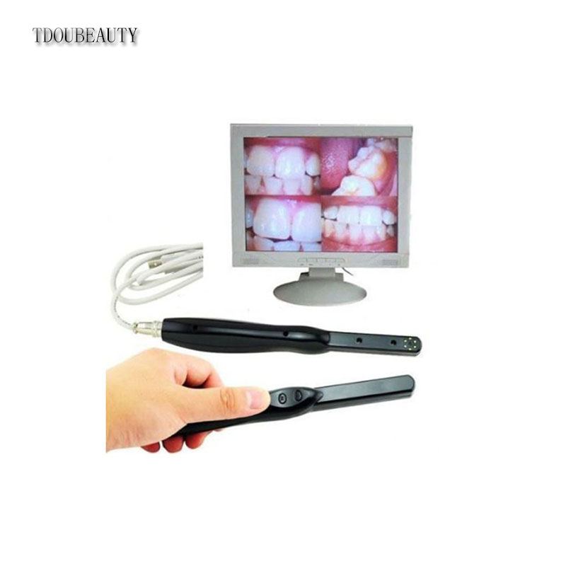 TDOUBEAUTY HD USB 2.0 Intra Oral Camera 6 Mega Pixels 6-LED Clear Image lab &clinic Free Shipping 2018 denshine new dental hd usb 2 0 intra oral camera 6 mega pixels 6 led clear image