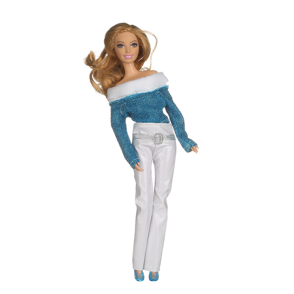 1 Units Handmade Shirt Outfit Informal Put on Garments Trousers for Barbiee Doll garments AB40